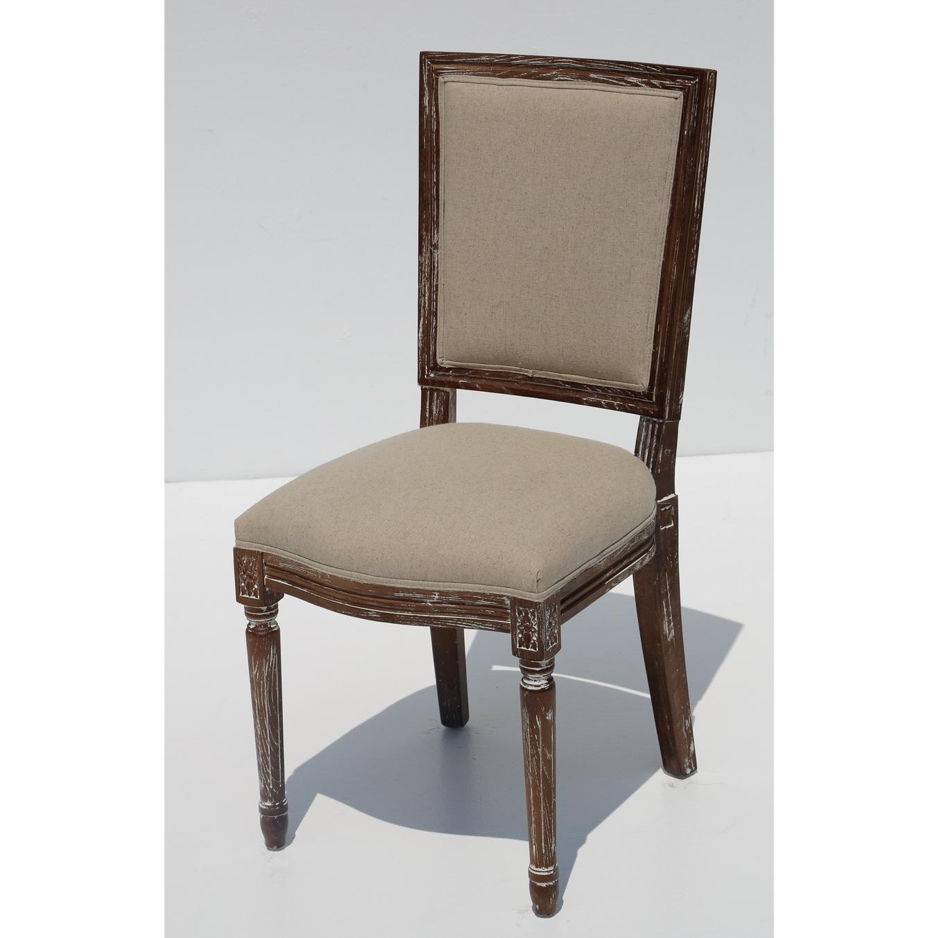 כסא לואי – גב מרובע
