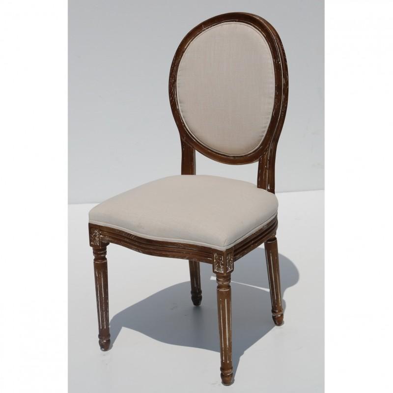 כסא לואי – גב עגול