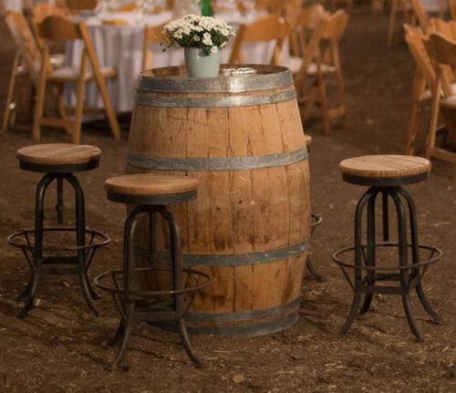 שולחן בר חבית יין