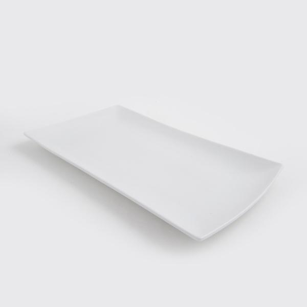 מגש לבן מלבן 15*30