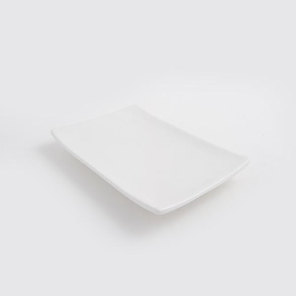 מגש לבן מלבני קטן