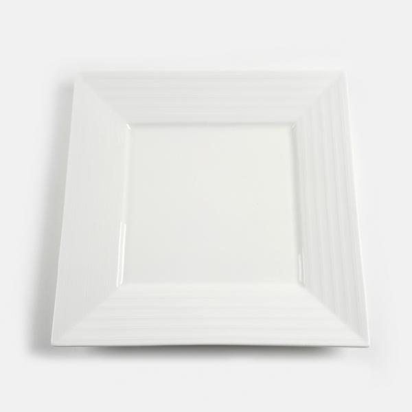 מגש לבן מרובע