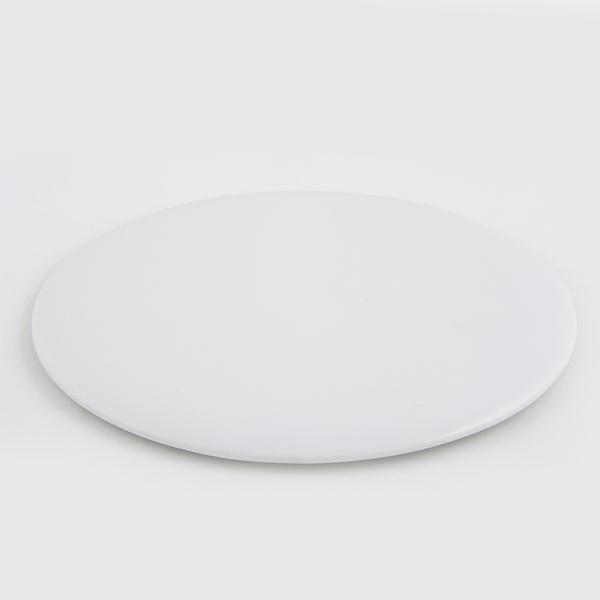 מגש לבן עגול שטוח לעוגה