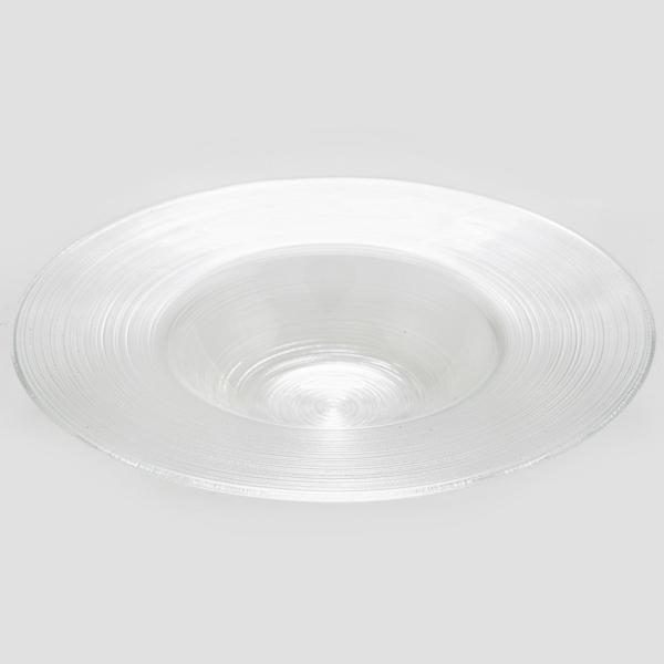צלחת זכוכית פסטה פסים
