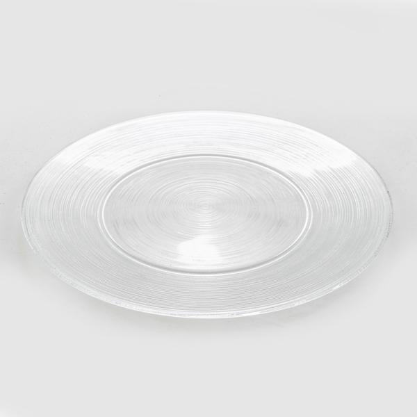 צלחת זכוכית פסים