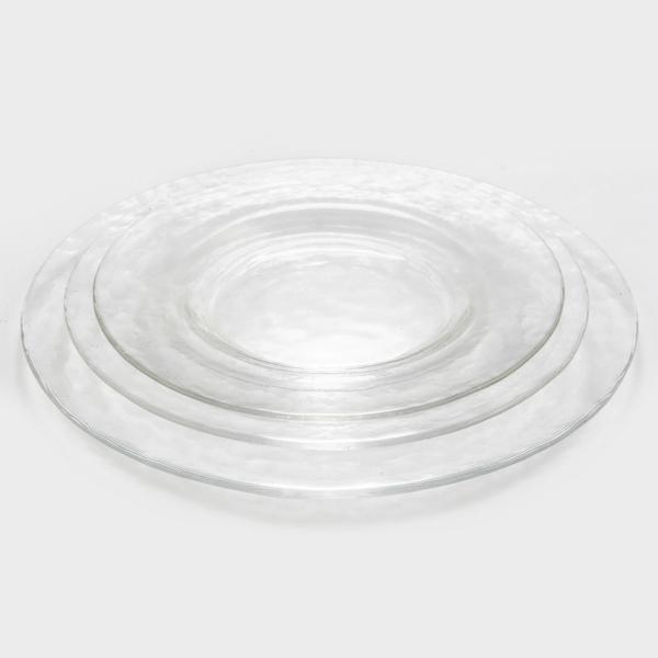 צלחת זכוכית עגולה