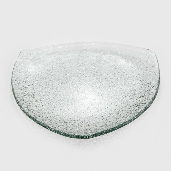 צלחת זכוכית משולשת
