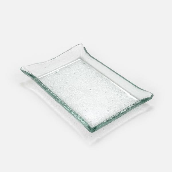צלחת קבלת פנים זכוכית מלבן