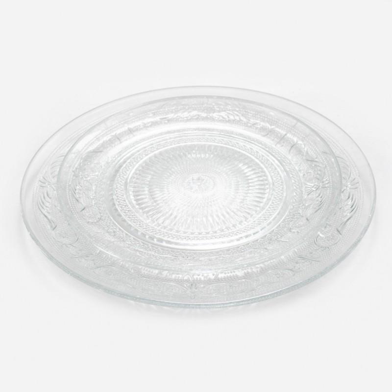 צלחת זכוכית רטרו