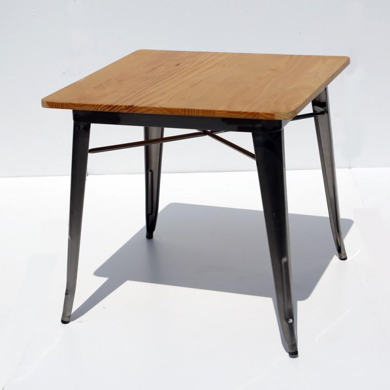 שולחן בית קפה דורתי – מתכת – טופ עץ