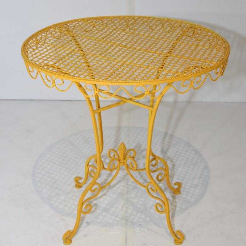 שולחן בית קפה פריזאי- צהוב