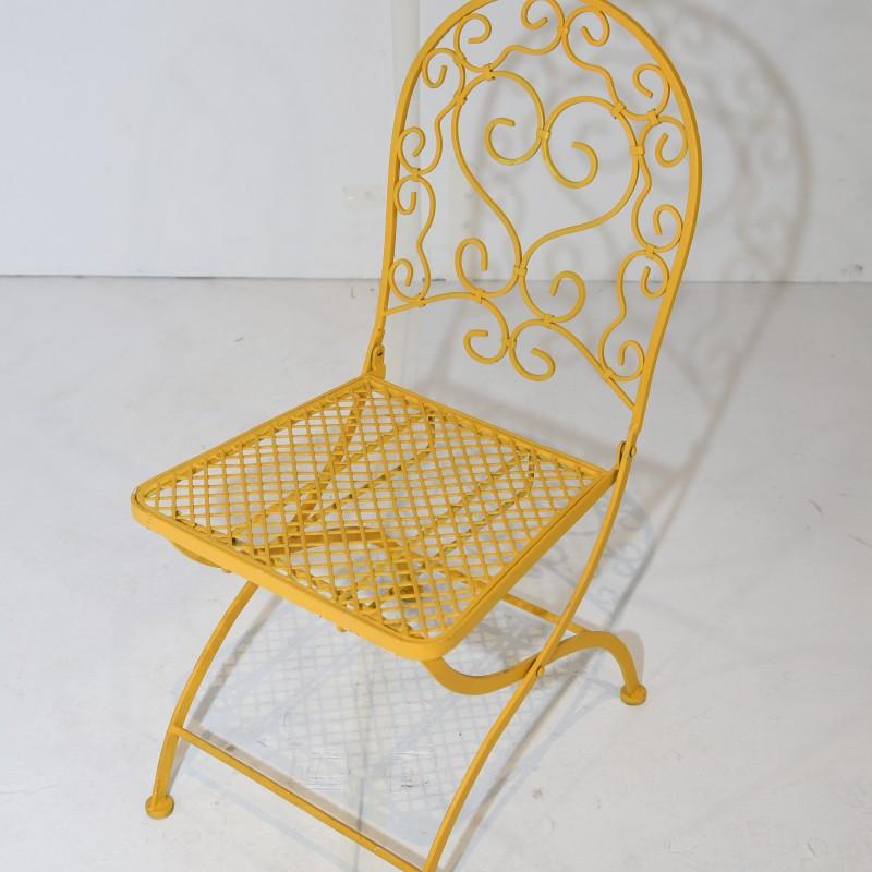 כסא בית קפה פריזאי- צהוב