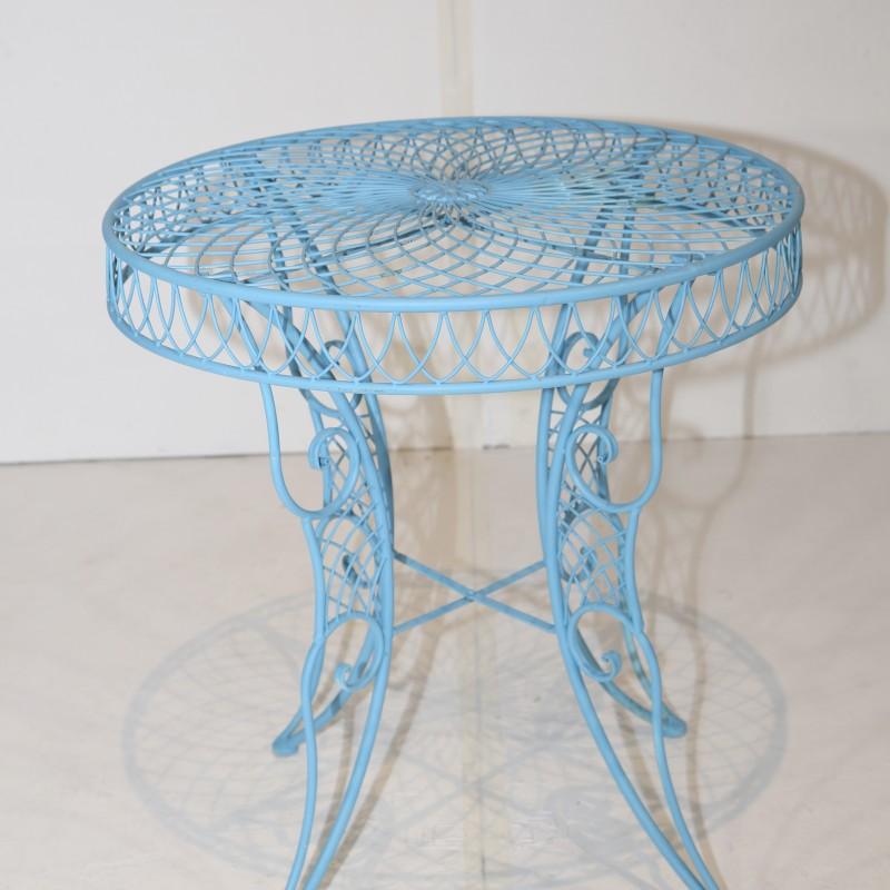 שולחן בית קפה פריזאי- תכלת