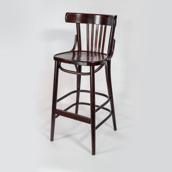 כיסא בר עץ מהודר וונגה