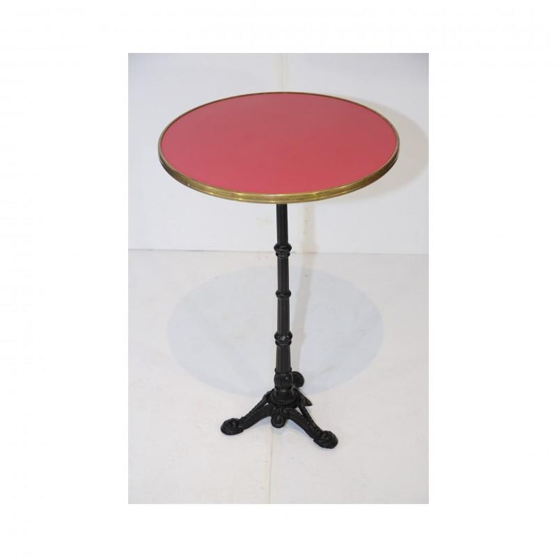 שולחן בר עגול- טופ אדום