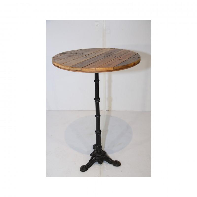 שולחן בר עגול- עץ טבעי