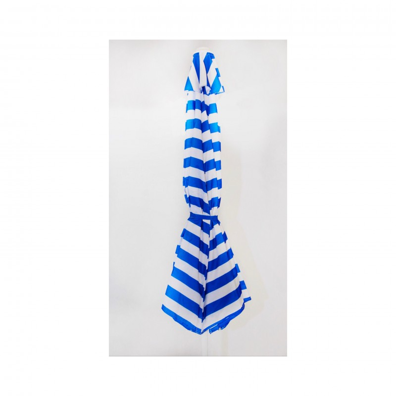 שמשיה עגולה- פסים כחול לבן